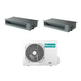 Condizionatore con inverter canalizzato Hisense dual split 9000+12000 Btu in A++ 2AMW42U4RRA