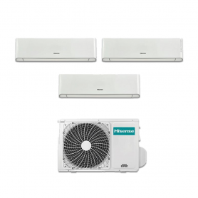 Condizionatore Hisense Energy trial split con inverter e Wifi da 9000+12000+12000 Btu R32 A++ 4AMW81U4RAA