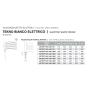 Termoarredo Ercos Tekno Elettrico Bianco 600 x 1800 mm