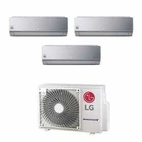 Climatizzatore LG Artcool Silver wifi Trial split 9000+9000+9000 btu inverter in R32 con MU3R19
