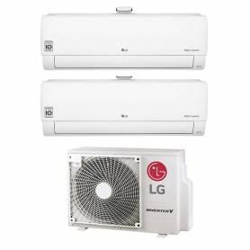 Climatizzatore Atmosfera LG dual split da 9000+9000 btu inverter con wifi in R32 MU2R15 sconto in fattura 50%
