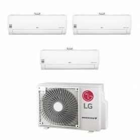 Climatizzatore Atmosfera LG trial split da 9000+9000+12000 btu inverter wifi in R32 MU3R19 sconto in fattura 50%
