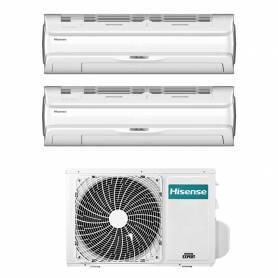 Climatizzatore Silentium Pro Hisense dual split 9000+9000 btu inverter con Wifi 2AMW42U4RRA