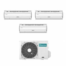 Climatizzatore Silentium Pro Hisense trial split 9000+9000+12000 btu inverter con wifi 3AMW62U4RFA
