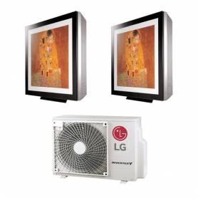 Condizionatore LG Dual Split Art Cool Gallery Libero Plus 9+12 9000+12000 Btu Inverter WiFi R32 A++ MU2R17