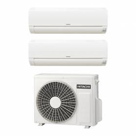 Climatizzatore Hitachi Dodai FrostWash dual split da 9000+9000 btu inverter in R32 RAM-40NE2F