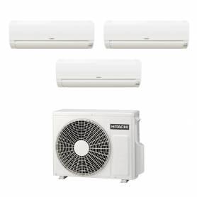 Climatizzatore Hitachi Dodai FrostWash trial split 9000+9000+9000 btu inverter in R32 RAM-53NE3F in A++