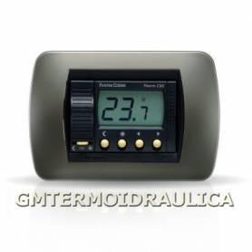 Termostato Ambiente Digitale Elettronico da Incasso Fantini Cosmi Modello C50 a Batteria con Display Regolatore Temperatura Comando Caldaia e Riscaldamento Colore Antracite
