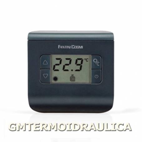 Termostato Ambiente Digitale Elettronico a Batteria Fantini Cosmi Modello Ch112 con Display Regolatore Temperatura Comando Calda