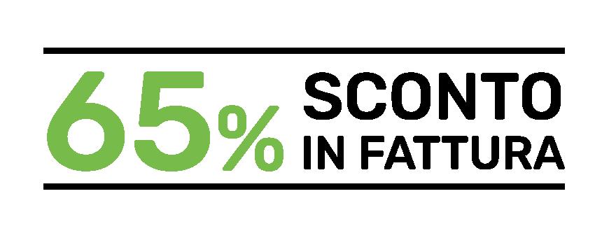 Sconto in fattura 65%