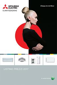 listino Catalogo condizionatore climatizzatore mitsubishi 2017